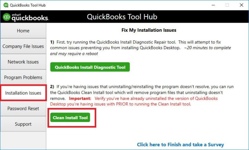 Clean Installation of Quickbooks