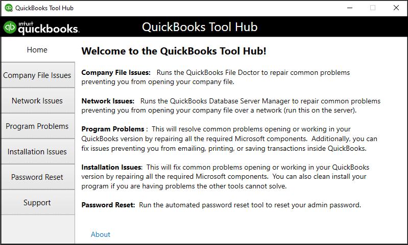 QuickBooks Tool Hub: List of Tools