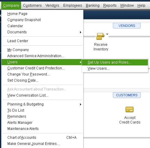 Set Up QuickBooks User Permissions